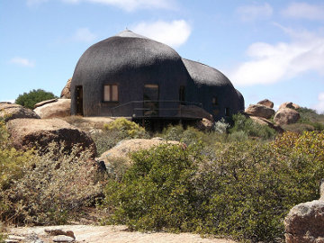 Mountain lodge at the Naries Namakwa Retreat in South Africa's Northern Cape province